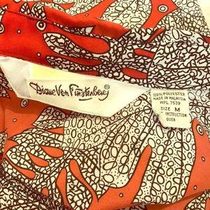 Diane von Furstenburg vintage 80's  funky buttonup